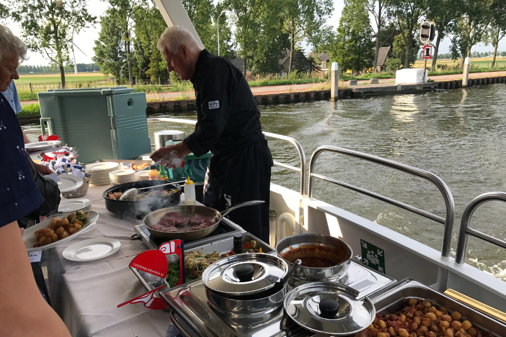 Eten op het water